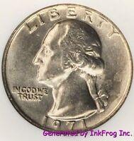 1971 P & D Washington Quarter Choice/Gem Bu Mint Cello
