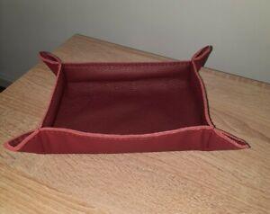 EDEL*Taschenleerer-Ablageschale- Sammler  Leder rot