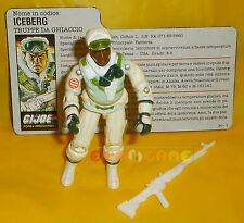 ICEBERG (v1) 1986 Series 5 - With Card - G.I. Joe GI Hasbro ○○○○ COMPLETO