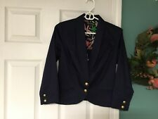 Women's THE WEBSTER MIAMI At Target Navy Blazer Jacket Size 4 (CON5)