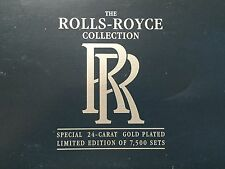 Lledo la rolls-royce collection édition limitée 24 carat plaqué or 3 voiture set