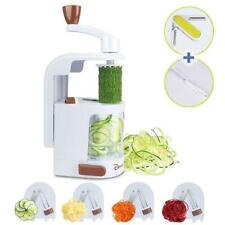 Domserv Spiral Vegetable Slicer Spiralizer Cutter Built-in 4 Rotating Blades