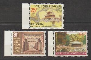 1975 South Vietnam Stamps Throne, Imperial Palace, Hue Sc # 501- 503 MNH