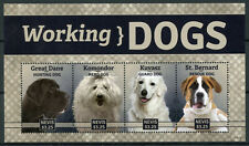 Nevis Stamps 2014 Mnh Working Dogs Great Dane Komondor Kuvasz St Bernard 4v M/S