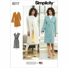 Simplicity Sewing Pattern 8217 Wrap Tie Coat Waistcoat 8-16 & 16-24 Ladies Lined