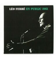 LEO FERRE : EN PUBLIC 1961 ( 2 récitals - à l' Alhambra et au Vieux-Colombier )