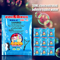 10pcs For Kids Concentrate Bubbles Liquid Funny Soap Water Party Outd N_N