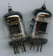 5654 RCA BLACK PLATES ~TV-7D/U Tested~ MATCHED PAIR ~TWO TUBES ~6J1 ~6AK5 ~EF95