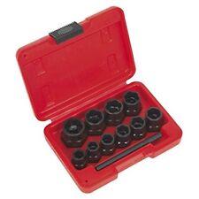 Sealey Ak8184 tornillo extractor juego 10pc 1cmsq en coche o llave