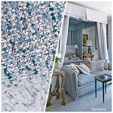 "SWATCH Designer Upholstery Heavyweight Tweed Fabric- Blue- 4"" x 7"" sample"
