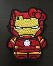 "HELLO KITTY AS IRON MAN EMBROIDERED IRON /SEW ON  PATCH 2.5"" x 3"""