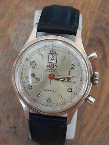 Superbe montre  chronographe MATY RARE DATE A 12H  montre chronomètre