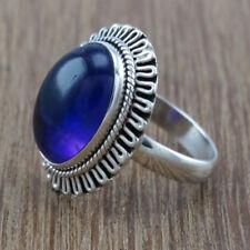 Women Vintage 925 Silver Blue Sapphire Moonstone Gem Ring Women Wedding Bridal#8