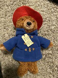Yottoy Paddington Teddy Bear Plush Brown Stuffed Animal Blue Coat Hoodie Red Hat