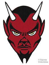 RED DEVIL BIKER EMBROIDERED IRON-ON PATCH REBEL SATAN LUCIFER EVIL 666 APPLIQUE