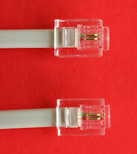 """RJ11 a RJ11 """" 4M"""" ADSL 2 fili a banda larga via cavo Grigio per Router per ADSL FILTRO"""