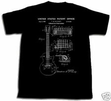 GIBSON LES PAUL GUITAR PATENT SHIRT L TShirt art Large Ted McCarty Polsfuss