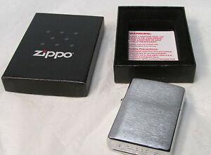 "Genuine Zippo ""Satin Chrome"" Full Size Lighter B-07 - Made in U.S.A."