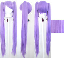 40'' Wavy Pig Tails + Base Lavender Purple Kagami Cosplay Wig NEW