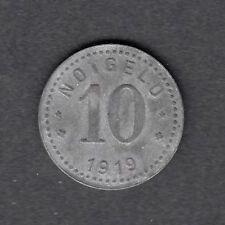 Unterweserstädte - Notmünze zu 10 Pf. 1919  -Leuchtturm-  (Funck Nr. 558.2)