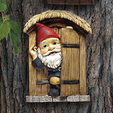 Door Gnome Garden Welcome Tree Sculpture Woodland
