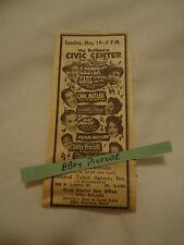Lester Flatt Earl Scruggs 1963 concert ad Baltimore Civic Center