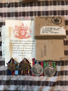 WW2 RAF Medals with box of issue + original photo