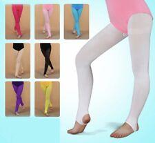Dance Tights.Stirrup GirlsTights.UK.Age 6-12 Years.Pink Ballet Tights.Leotard.