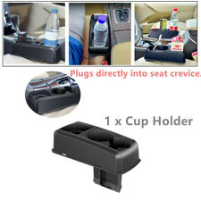 Black Car Drink Cup Holder Auto Seat Seam Wedge Drink Mount Stand Storage ABS