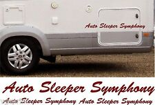 AUTO SLEEPER SYMPHONY 4 PIECE KIT DECALS STICKERS CHOICE OF COLOURS & SIZES