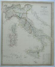 Antique map of Italy by SUDK 1840
