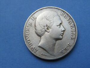 1 Taler Bayern 1871 Madonnentaler  Silber 18,28 Gramm Original