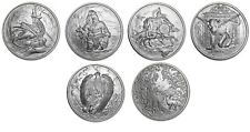 NORDIC CREATURES 5 1 OZ SILVER COINS FULL MATCHING # SETS-DRAGON-EAGLE-HELLHOUND