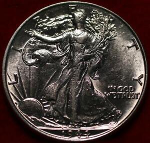 Uncirculated 1944 Philadelphia Mint Silver Walking Liberty Half