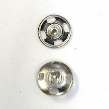 New Sew-On Snaps Fasteners Size:12mm 144 sets package, Color: Nickel