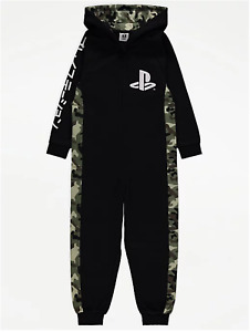 OFFICIAL PLAYSTATION Boys Girls Kids All In One Sleepsuit Pyjamas Ages 6-16
