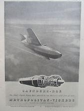 11/46 PUB SAUNDERS-ROE METROPOLITAN VICKERS SRA/1 FIGHTER FLYING BOAT AD
