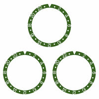 3 BEZEL INSERT ALUMINUM FOR ROLEX GMT WATCH 16700 16710 16713 16718 16760 GREEN