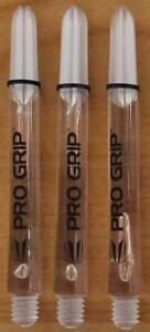 "10 Sets (10X3) Target ""Pro Grip"" Clear,Medium Dart Stems/Shafts (48mm,2ba)"