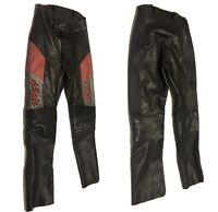 Hein Gericke Vintage Leather Men Motorcycle Biker Pants Kawasaki Ninja Size 28