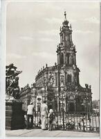 Ansichtskarte Dresden - Blick auf die ehemalige Hofkirche - schwarz/weiß