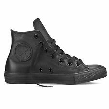 Converse Chuck Taylor Mono Leather All Black All Star HI Schuhe Mono Schwarz Led