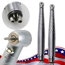 2x Dental High Speed Handpiece LED Optic Standard Push Button 4Hole w/ Cartridge