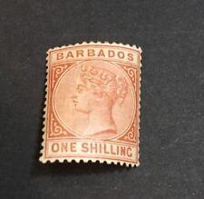 Barbados 1882 Scott 67 SG 102 VF Mint Lightly Hinged MH M/M