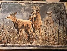 """Winter whispers"" deer outdoor Panel By Wilmington Prints Fabric Sewing Quilt"