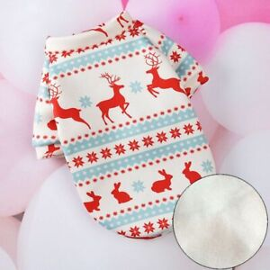 Pet Cat Dog Costume Christmas Clothes Winter Sphynx Warm Sweatshirt Hoodie Suit