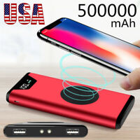 Portable External Wireless 500000mAh Power Bank 2 USB Battery Charger for Phones
