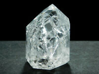 A Very Translucent! Polished Fire and Ice Quartz Crystal From Brazil 84.5gr