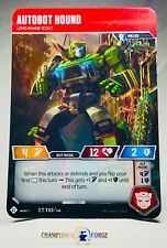 Transformers TCG Autobot Hound #CT T03 Common Character Card