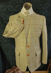 Good Mens Vintage Lynton Country Norfolk Tweed Jacket Size 42 Large